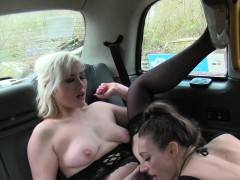 Lesbians In Lingerie Fucking In Cab