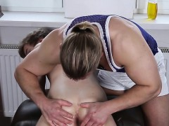 Massaged Twink Anally Fingered By Muscle Guy
