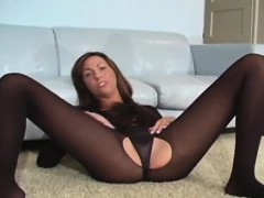 Two Hotties Compare Their Sexy Pussies In Damn Tights