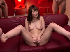 Subtitled JAV legend Yui Hatano naked masturbation party