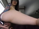 Flirtatious Nerdy Gets Her Tight Pink Pussy Wet