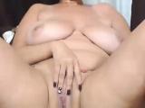 Gorgeus Huge Natural Tits Camgirl Masturbates At Home