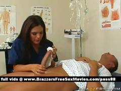 hot-brunette-nurse-makes-a-patient-a-bath