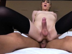 Tgirl And Her Trap Gf Cum On Each Other!