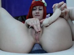 cute-redhead-babe-toying-her-pussy