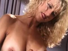 Blonde MILF Gives Great Homemade Handjob