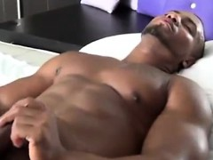 muscular-black-guy-masturbates