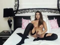 pretty-shemale-brunette-masturbate-on-cam