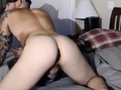Hot Gay With Anal Plug Fuck Silicone Masturbator Toy