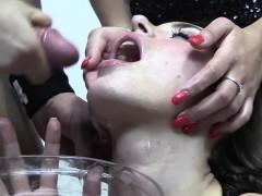 premium bukkake – nicole swallows 59 monster mouthful cumshots Hot