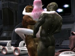 Sexy Elf Double Penetrated By Two Monsters
