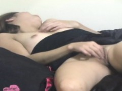 Asian Slut Rubs Pussy