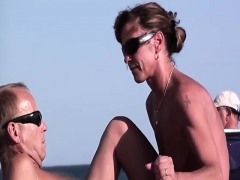 Outdoor Handjob On Beach With Cumshot