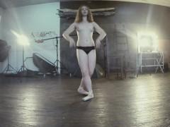 Chubby Pale Gymnast Rita