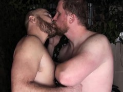 Horny Big Daddy Bear Gets Asshole Owned And Barebacked