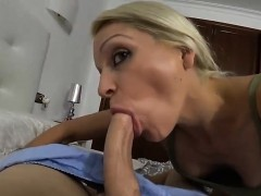 Horny Blonde Milf Perfect Pov Blowjob With Cum In Mouth