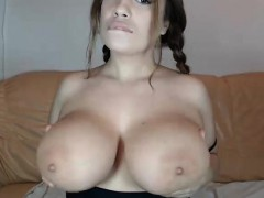 Fat Amateur Web Cam Girl Showing Her Boobs And Ass