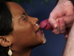 Black Busty British Beauty Facialized Pov