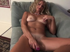 american-milf-lauren-demille-gives-her-tanned-body-a-treat