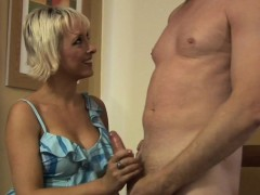 Dominant Cfnm Milf Teasing And Tugging Cock