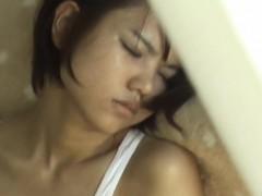 asian slut caught rubbing