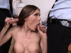 office babe cocksucking before backdoor pounding WWW.ONSEXO.COM