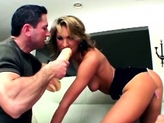 busty milf gets double nailed by horny guys