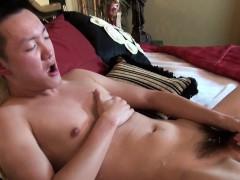 Asian Twink Tugs Himself