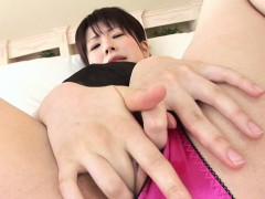 Classy Asian idol toys her wet pussy for the camera