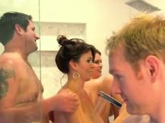 Hot And Wild Shower Scene From The Swinger House