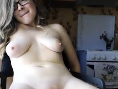 Cute Teen Stokes Her Freshly Fucked Pussy To Squirt