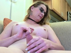 Amateur Spex Tgirl Jerking Off Until Cum