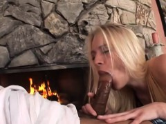 Sensational Blonde Loves His Big Black Cock