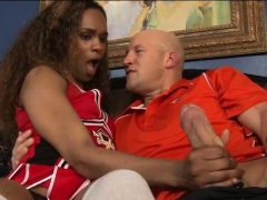 Ebony Cheerleader Ts Becca Anal Banged By Pervert Coach