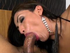 Big Tits Tranny Cums During Anal Sex