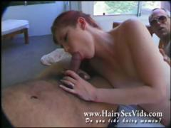 redhead-hairy-bitch-in-for-3some