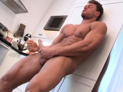Muscular Stud Wanking His Big Hard Cock