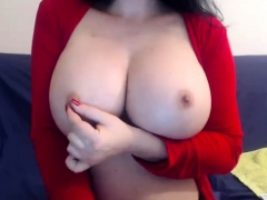 Skinny Brunette Big Natural Boobs Strip And Play