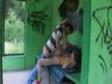 Our first outdoor sex on the bus station