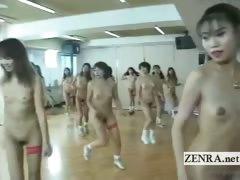 Subtitled bizarre Japanese nudist group aerobics class