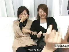 subtitled cfnm japanese handjob blowjob demonstration
