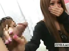 subtitled-two-tan-japanese-gyaru-bizarre-cfnm-handjobs