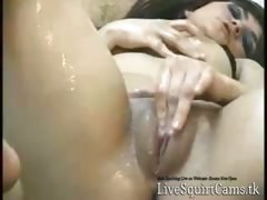 MILF Squirts on Cam for Random Guys