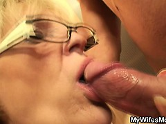 She Enjoys Sucking And Riding Her Son in law's Cock