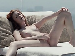 gentle-redhead-opening-vagina-outside