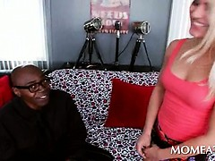 Blonde Seductress Having Black Neighbor Over For A Good Fuck