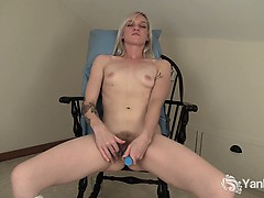 tattooed-blonde-ari-fucks-a-blue-dildo