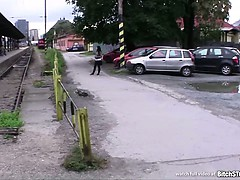 Bitch STOP – Busty teen Nikola fucked outdoor