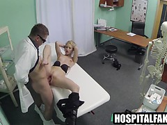 Blonde Patient Gets Licked And Fucked By Her Doctor