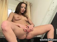 Hally Enjoys Bathroom Piss Play